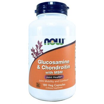 Купить Now Foods Glucosamine & Chondroitin with MSM 180 Capsules