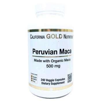 Купить Maca 500 mg 240 Veggie Caps (Каліфорнія Голд Нутришн Мака 500 ...