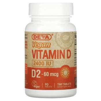 Купить Vegan Vitamin D2 60 mcg 2400 IU 90 Tablets