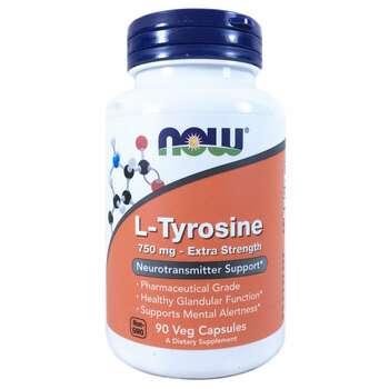 Купить L-Tyrosine Extra Strength 750 mg 90 Veg Capsules ( L-тирозин Е...