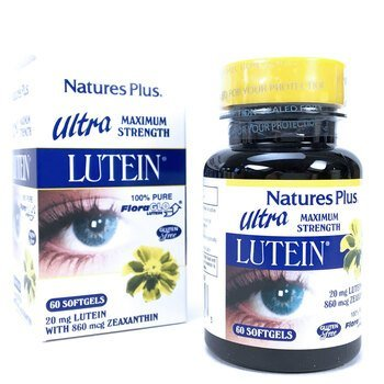 Купить Nature's Plus Ultra Lutein Maximum Strength 20 mg 60 Softgels