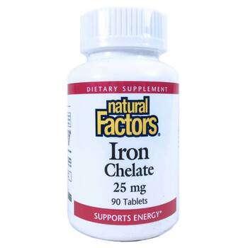 Купить Iron Chelate 25 mg 90 Tablets ( хелатний залізо 25 мг 90 табле...