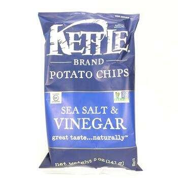 Купить Kettle Foods Potato Chips Sea Salt & Vinegar 142 g