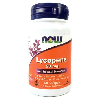 Купить Now Foods Lycopene 20 mg 50 Softgels