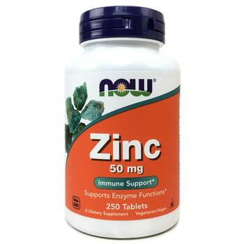 Купить Now Foods Zinc 50 mg 250 Tablets