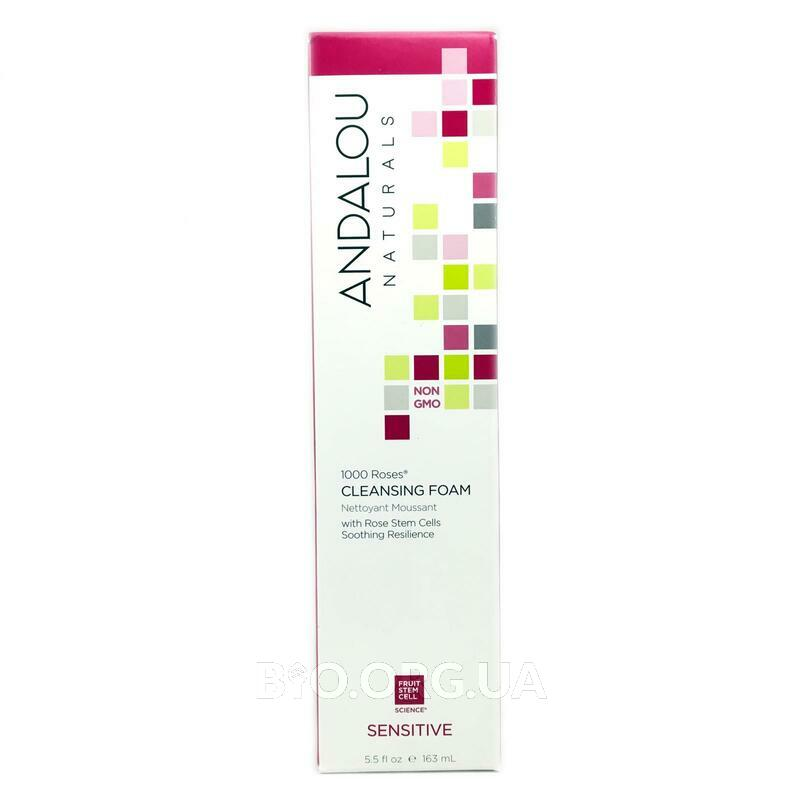 Andalou Naturals 1000 Roses Cleansing Foam Sensitive 163 ml