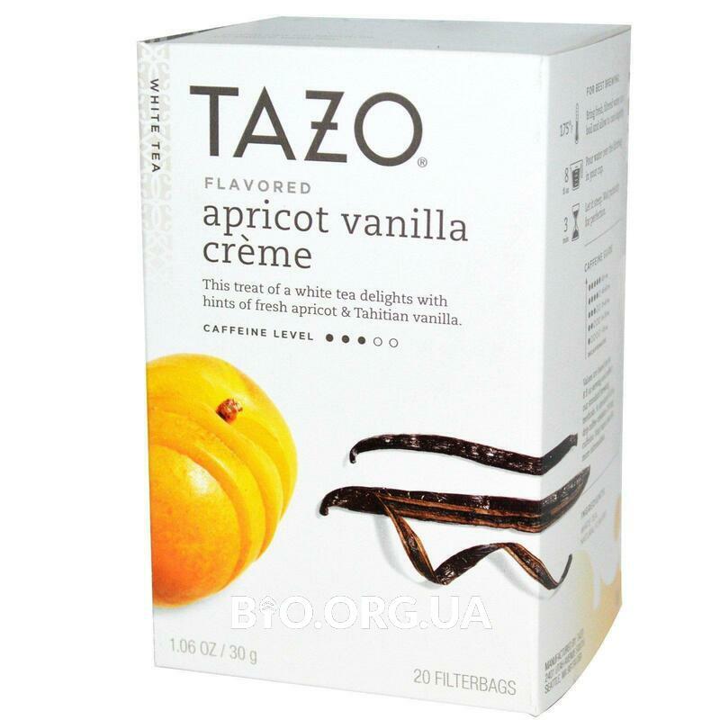 Белый чай со вкусом абрикоса и ванильного крема 20 пакетиков 30 г фото товара