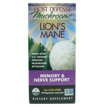 Купить Fungi Perfecti Host Defense Mushrooms Lion's Mane 60 Capsules