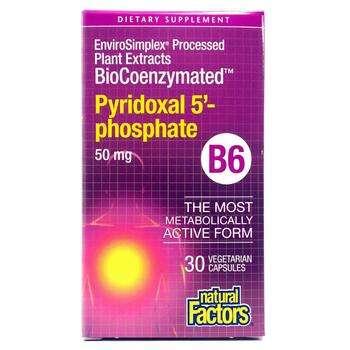 Купить Natural Factors Pyridoxal 5'-Phosphate 50 mg 30 Capsules