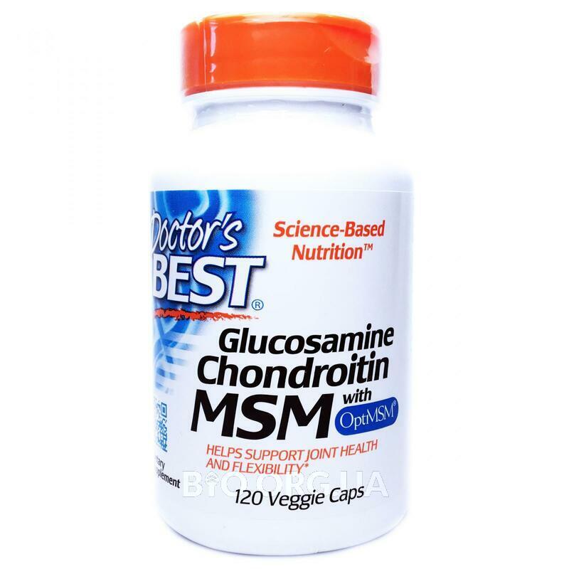 Глюкозамин хондроитин и МСМ с OptiMSM 120 растительных капсул фото товара