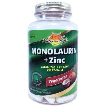 Фото товара Nature's Life Пиколинат цинка 15 мг + Монолаурин 90 капсул
