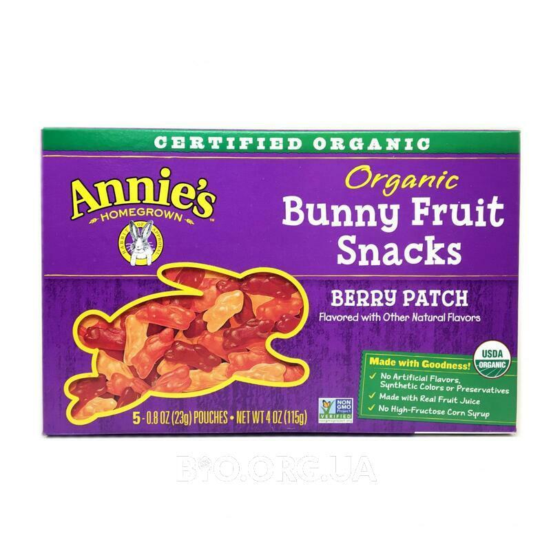 Энни органические мармеладные зайки ягодный вкус 5 упаковок 23... фото товара