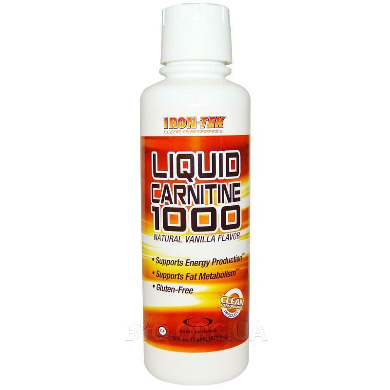 Iron Tek Liquid Carnitine 1000 Натуральный ароматизатор ванили... фото товара