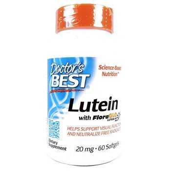 Купить Doctor's Best Lutein with FloraGlo Lutein 20 mg 60 Softgels