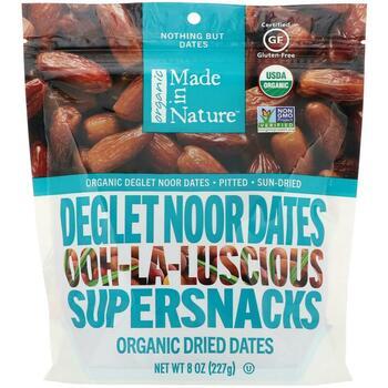 Купить Made in Nature Organic Dried Deglet Noor Dates Ooh-La-Luscious...