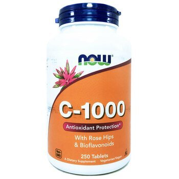 Купить C 1000 With Rose Hips and Bioflavonoids 250 Tablets (Вітамін C...
