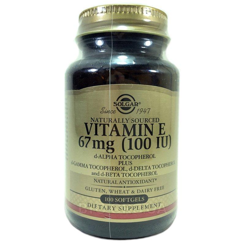 Витамина Е 100 МЕ 100 капсул фото товара