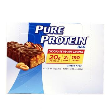 Купить Pure Protein Chocolate Peanut Caramel Bars 6 Bars 50 g Each