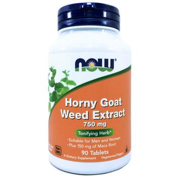 Купить Now Foods Horny Goat Weed Extract 750 mg 90 Tablets