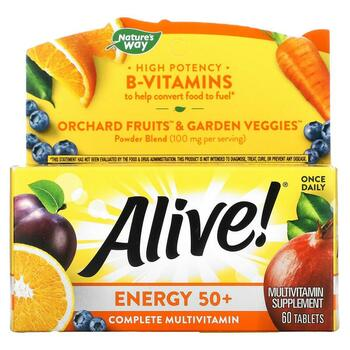 Купить Alive Energy 50+ Multivitamin-Multimineral For Adults 50+ 60 T...