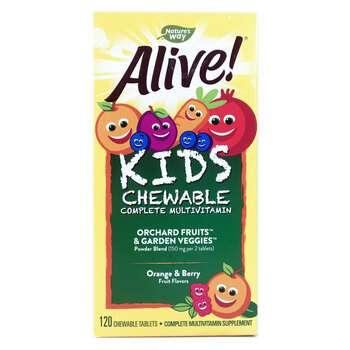 Купить Alive! Childrens Chewable Multi Vitamin Orange Berry Fruit Fla...