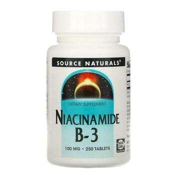 Купить Source Naturals Niacinamide B 3 100 mg 250 Tablets