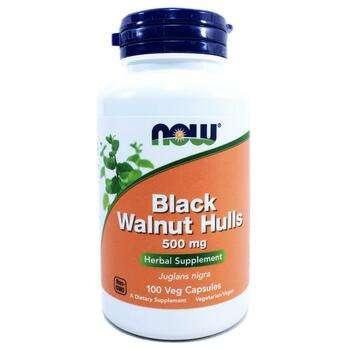 Купить Now Foods Black Walnut Hulls 500 mg 100 Capsules