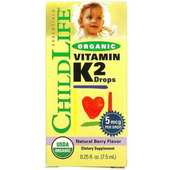 Купить Organic Vitamin K2 Drops Natural Berry Flavor 12 ml