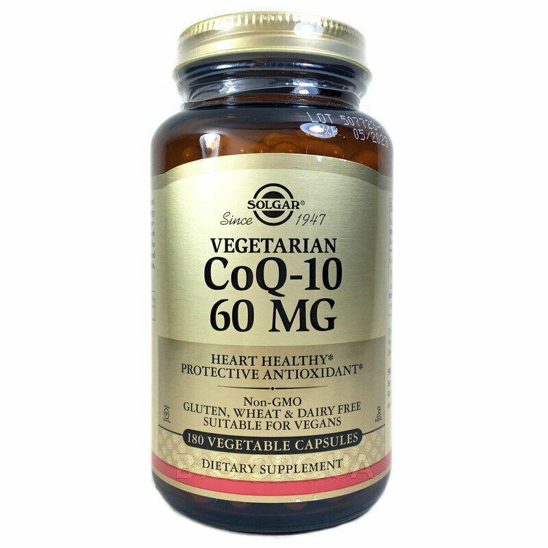 Вегетарианский CoQ-10 60 мг 180 растительных капсул фото товара