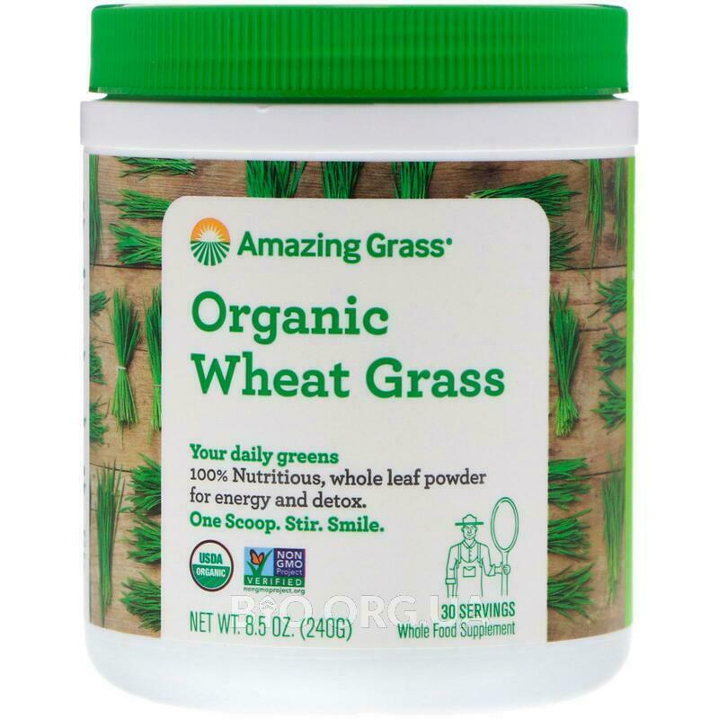 Органическая пшеничная трава  8 240 г фото товара