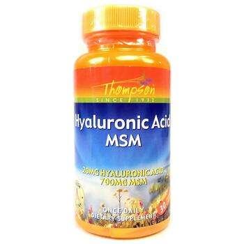 Купить Thompson Hyaluronic Acid MSM 30 Enteric Coated Capsules
