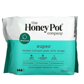 Купить Herbal-Infused Pads with Wings Super 16 Count