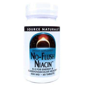 Купить Source Naturals No-Flush Niacin 500 mg 60 Tablets