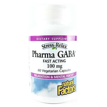 Купить Stress Relax Pharma GABA 100 mg 60 Veggie Caps ( Стрес Релакс ...