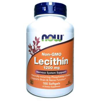 Купить Now Foods Lecithin 1200 mg 100 Softgels
