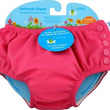 Купить Swimsuit Diaper Reusable & Absorbent 24 Months Hot Pink 1 Diaper