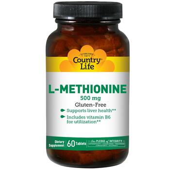 Купить Country Life L-Methionine 500 mg 60 Tablets