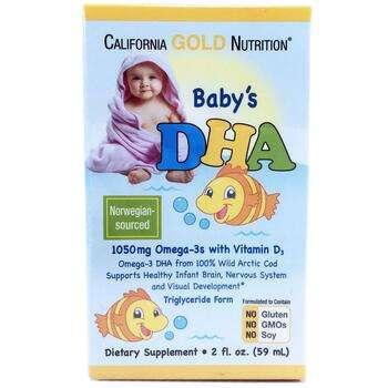 Купить California Gold Nutrition Baby's DHA 1050 mg Omega-3s with Vit...