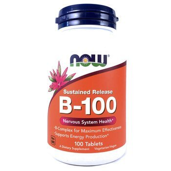 Купить Now Foods B-100 Sustained Release 100 Tablets