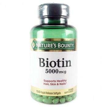 Купить Natures Bounty Biotin 5000 mcg 150 Softgels