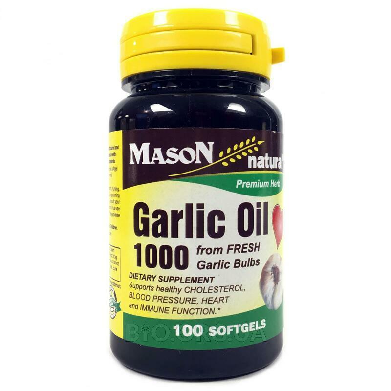 Чесночное масло 1000 мг 100 гелевых капсул фото товара