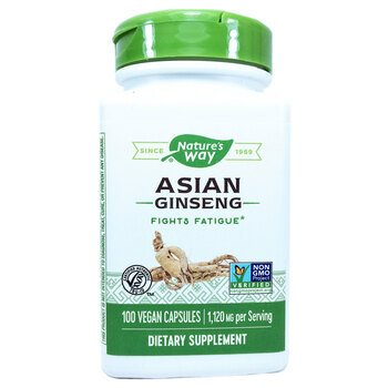 Купить Nature's Way Asian Ginseng 560 mg 100 Veg. Capsules