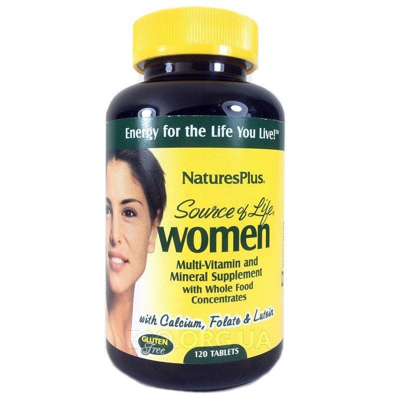 Natures Plus Мультивитамины и минералы для женщины 120 таблеток фото товара