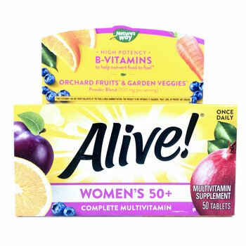 Купить Alive! Women's 50+ Complete Multi-Vitamin 50 Tablets (50+ Муль...