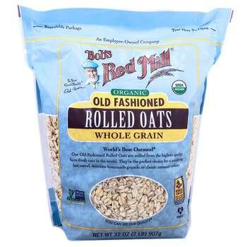 Купить Organic Old Fashioned Rolled Oats Whole Grain 907 g