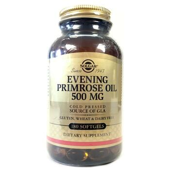 Купить Solgar Evening Primrose Oil Cold Pressed 500 mg 180 Softgels