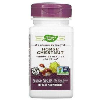 Купить Nature's Way Horse Chestnut Standardized 90 Vegetarian Capsules