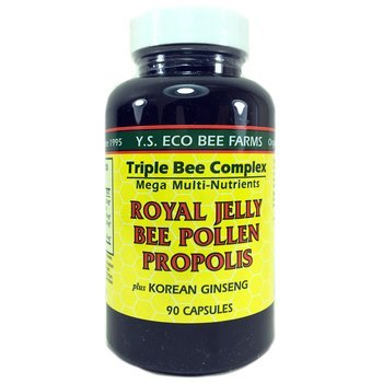 Купить Y.S. Eco Bee Farms Royal Jelly Bee Pollen Propolis Plus Korean...