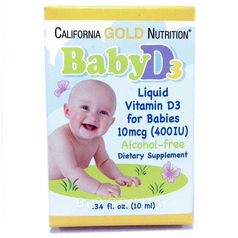 Витамин Baby D3 для детей 400 МЕ в каплях 10 мл фото товара