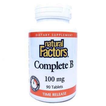 Купить Complete B 100 mg 90 Tablets (Комплекс Вітаміну B 100 мг 90 та...